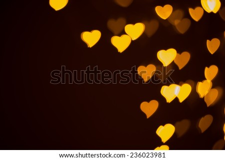 defocused hearts - stock photo