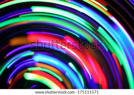 defocused lights - stock photo
