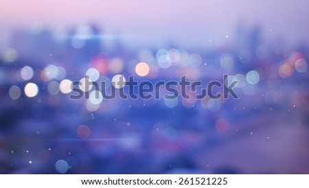 defocused lights of evening city - stock photo