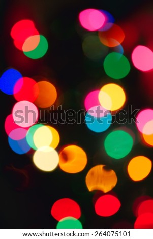 Defocused lights with bokeh modificator vertical image