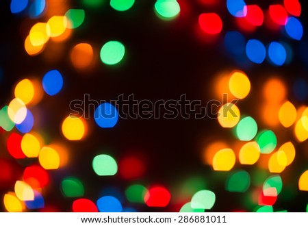 Defocused multicolored  lights background - stock photo