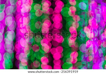 defocused pink and green circle light background - stock photo