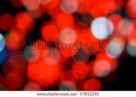 Defocused red lights. Can be used as a background. - stock photo