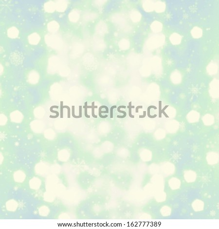 Defocused silver Christmas Bokeh  with snowflakes like champagne splashes. Christmas background. High Resolution. - stock photo