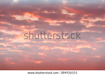 Defocused sunset sky natural background with with blurred panning