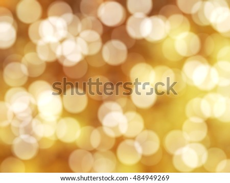 Defocused Unique Abstract Yellow Bokeh Festive Lights