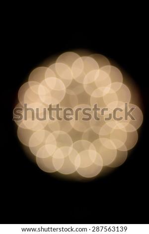 Defocused white star christmas light soft view - stock photo