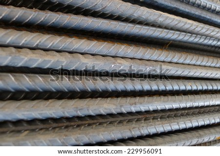 deformed bar or ribbed bar - stock photo