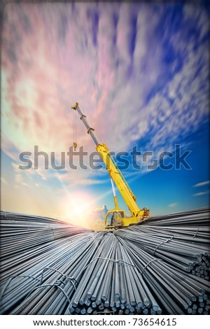 deformed steel bar steel - stock photo