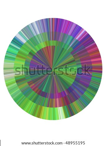 degraded bottom small wheel of colors