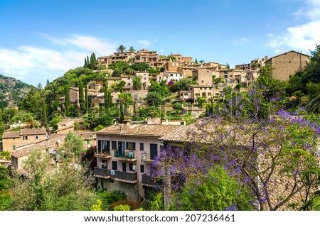 Deia village on Majorca - stock photo