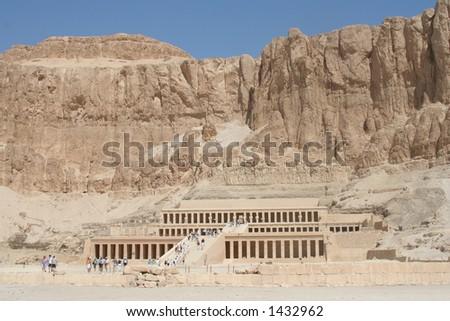 Deir el-Bahri 1 - stock photo
