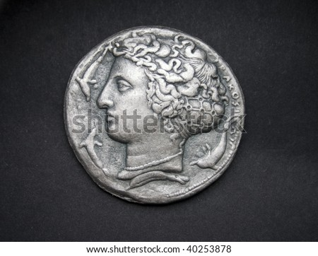Dekadrachm, ancient Greek silver coin