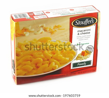 DeLand, FL, USA - June 5, 2014:  Stouffer�s Macaroni and Cheese is a very popular pre-prepared macaroni meal.   - stock photo