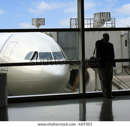 Delays and uncertainty plague business travelers - stock photo