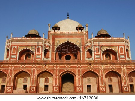 "Delhi, India - ""Humayun's Tomb"" is a UNESCO World Heritage monument - stock photo"