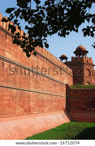 Delhi, India: Red Fort is a UNESCO World Heritage monument