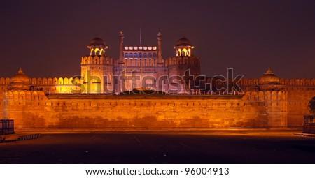 Delhi Red Fort - stock photo