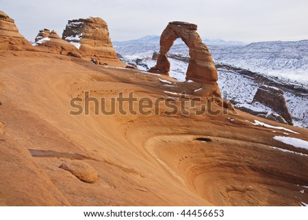 Delicate arch, Arches National Park, USA - stock photo