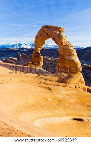 Delicate Arch, Arches National Park, Utah, USA - stock photo
