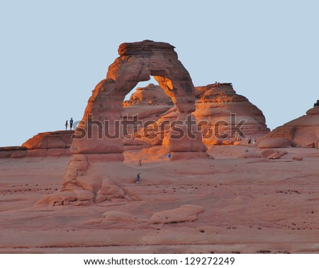 Delicate Arch at Arches National Park in Utah, USA - stock photo