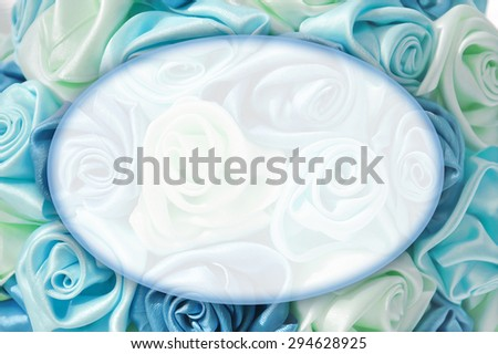 Delicate background with blue roses, place for text, for design use - stock photo