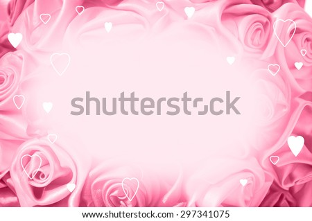 Delicate background with pink roses, place for text, for design use - stock photo
