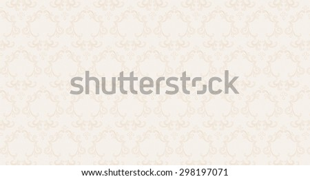 Delicate beige background with pattern - stock photo