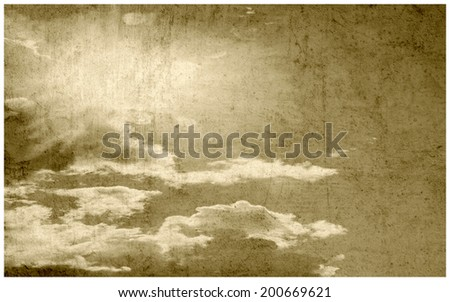 Delicate vintage background - clouds. - stock photo