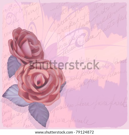 Delicate vintage background with roses