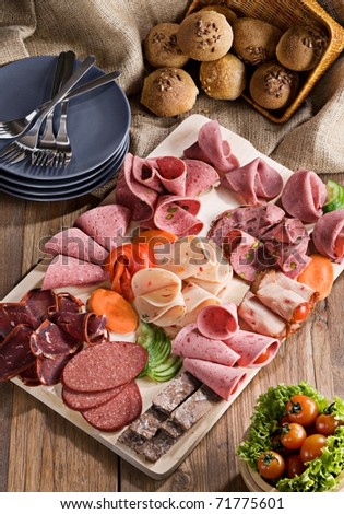 delicatessen setup - stock photo