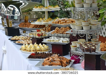 Delicious and elegant dessert buffet