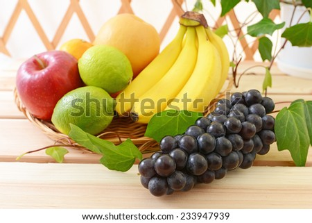 delicious and fresh variety fruits  - stock photo