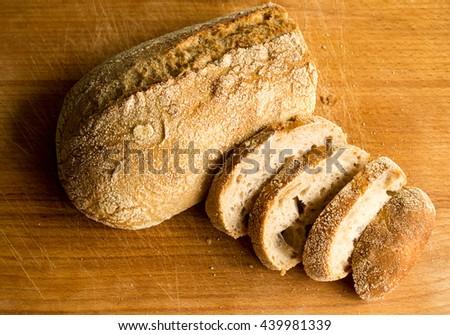 Delicious and warm bread - stock photo