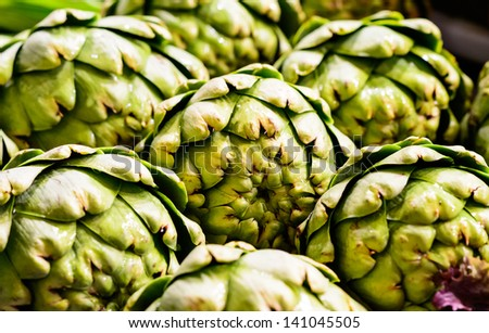 Delicious Artichokes at Pike Place Market, Seattle - stock photo