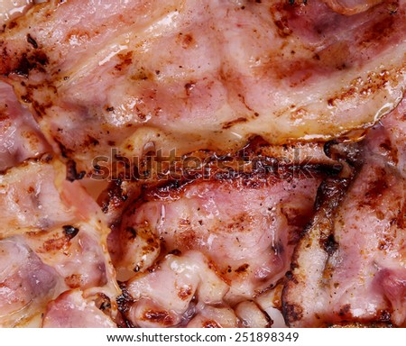 Delicious bacon on the table - stock photo