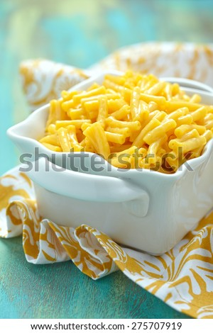 Delicious baked mac and cheese side dish - stock photo
