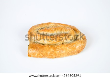 delicious bread isolated on white background. - stock photo