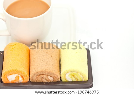 Delicious breads on paper background