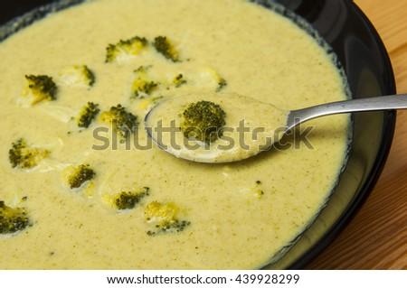 Delicious broccoli soup - stock photo