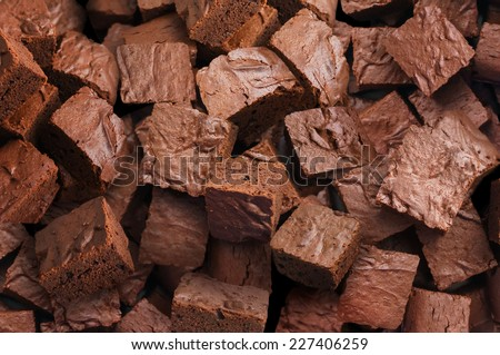 Delicious brownies background - stock photo