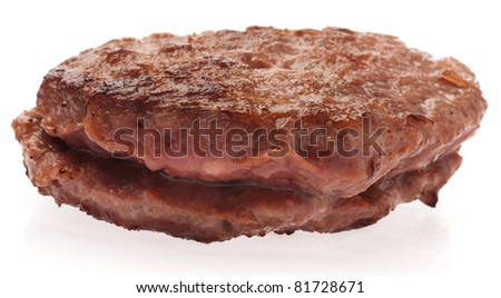 delicious burger isolated on a white background - stock photo