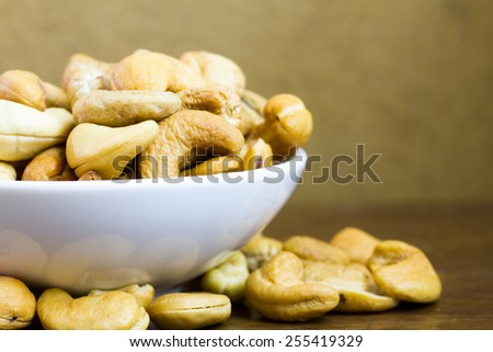 Delicious cashew readily on serve - stock photo