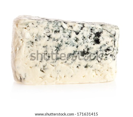 Delicious cheese on a white background