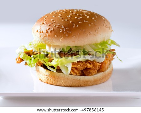 Delicious Chicken Jalapeno Burger with Hot Sauce