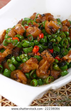 Delicious Chinese fried dish