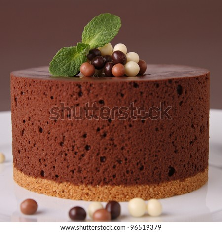 delicious chocolate cake - stock photo