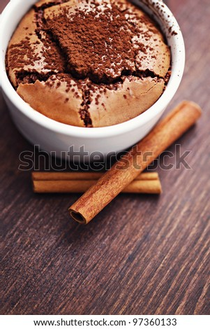 delicious chocolate dessert with cocoa - sweet food - stock photo