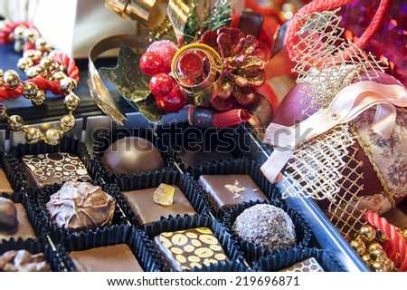 delicious chocolate in a Christmas scene