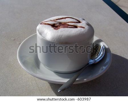 delicious coffee cappuccino - stock photo